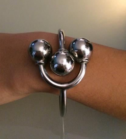 Bracelet argenté Vintage