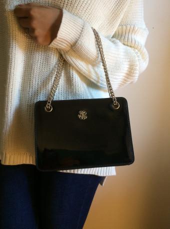 Petit sac vernis noir Vintage
