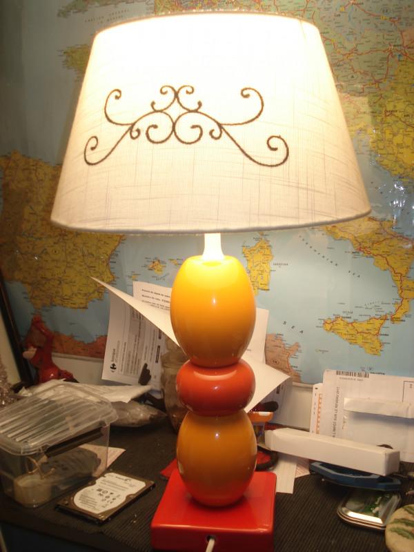 lampe ann e 70 a 80 vintage hauteur 40 cm les vieilles choses. Black Bedroom Furniture Sets. Home Design Ideas