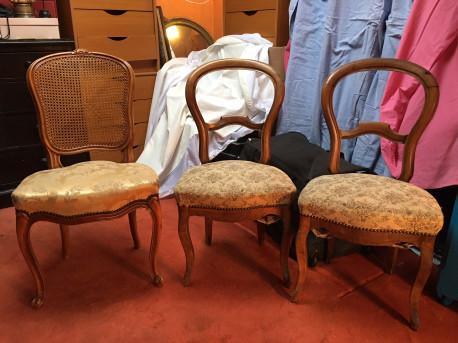 Chaises bois anciennes