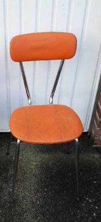 Chaise vintage orange