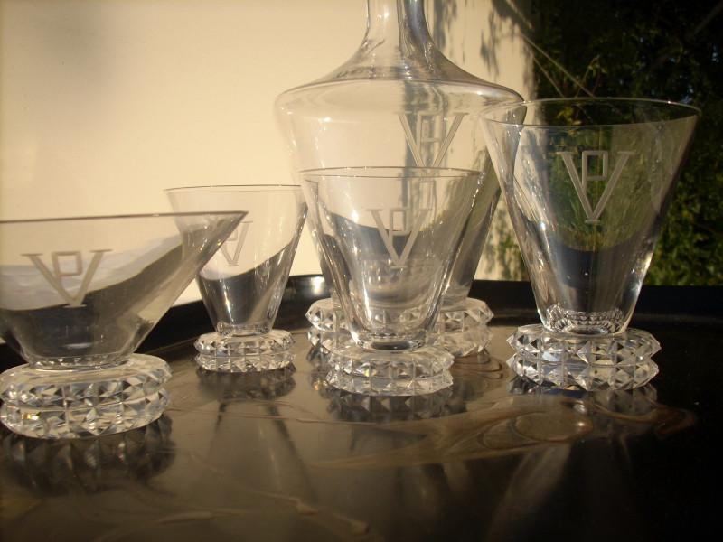 verre cristal grave ancien et vintage les vieilles choses. Black Bedroom Furniture Sets. Home Design Ideas