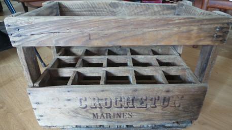 Porte bouteille en bois ancien