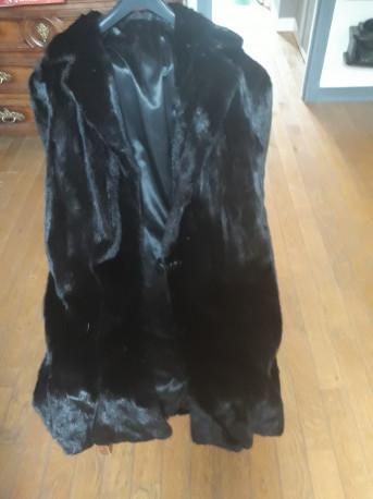 Manteau de vison noir Saga Mink Vintage