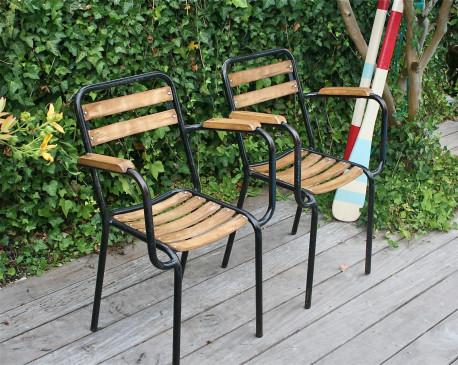 paire de fauteuils tolix vintage 50/60 - les vieilles choses