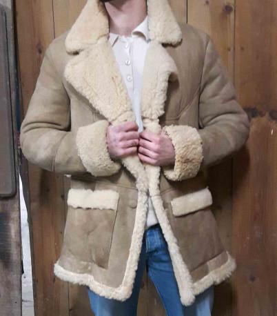 Veste peau de mouton vintage.