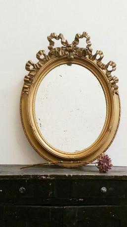 miroir ovale ancien