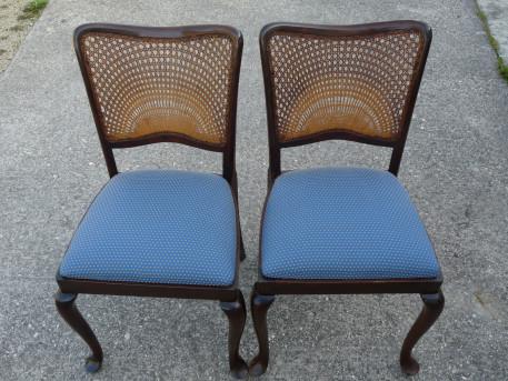 chaises chippendales avec dos cann s vintage les vieilles choses. Black Bedroom Furniture Sets. Home Design Ideas