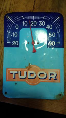 Thermomètre publicitaire de garage tudor
