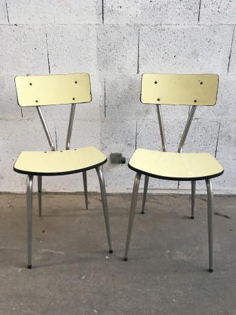 Duo de chaises Formica