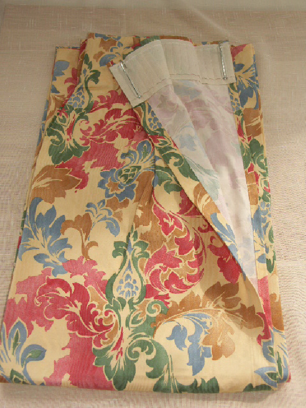 Paire doubles rideaux neufs vintage ann es 80 90 les for Decoration annee 90