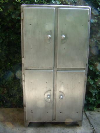 armoire buffet aluminium vintage 50/60
