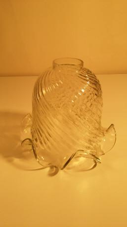 Tulipe de lampe en verre grande taille