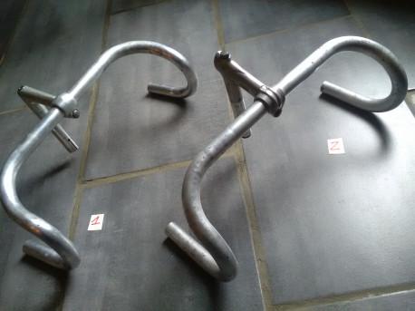 GUIDON cintre POTENCE aluminium COURSE velo ancien VINTAGE handlebar STEM old PRIX AFFICHÉ POUR UN GUIDON ET SA POTENCE PRI