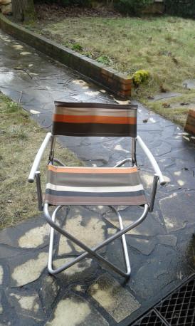 fauteuil pliant camping vintage