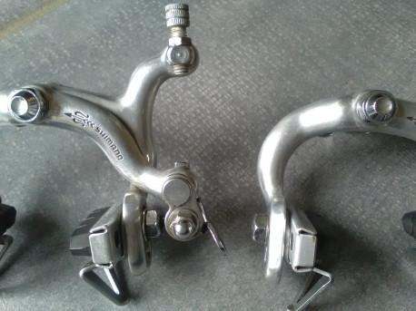 Paire ETRIER frein SHIMANO BR-S105 golden COURSE vintage BRAKE CALIPERS bike Poids 328 g Photos supplémentaires sur simple
