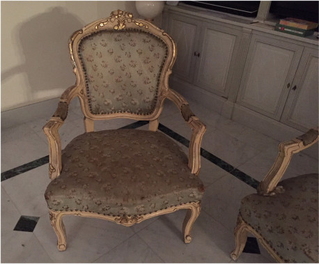 ensemble de fauteuils style louis xvi anciens les vieilles choses. Black Bedroom Furniture Sets. Home Design Ideas