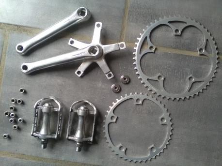 Pédalier SHIMANO FC-S125 52/42 170 + Pédales SR SP-150 9/16 crankset set pedals Poids de l'ensemble 820 g Photos supplémen