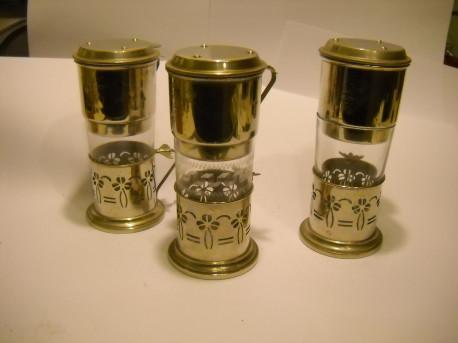 Lot de 3 Cafetières Tasses à café filtre Ancienne L'Abeille 1930