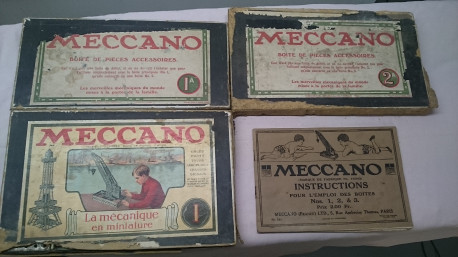 3 boîtes meccano années 20