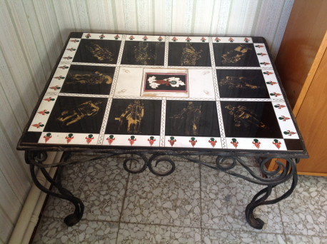 Table de salon en fer forg les vieilles choses - Table salon fer forge ...