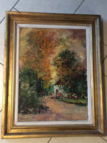 Tableau de Maurice Legrand (1906-2004) - La maison de gardien en Sologne Huile sur toile - 1973