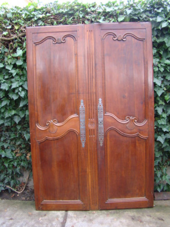 Porte d'armoire merisier fin XIX ème