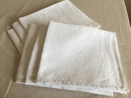 lot de 6 serviettes anciennes