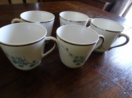 tasses à café porcelaine à motif myosostis