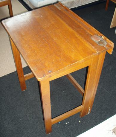 bureau ecolier bois pliable vintage