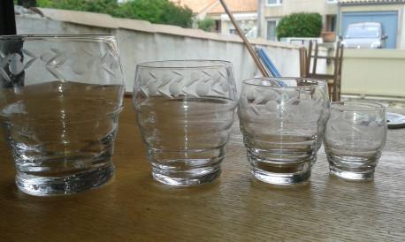 service de verres