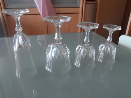 verres et flûtes en cristal