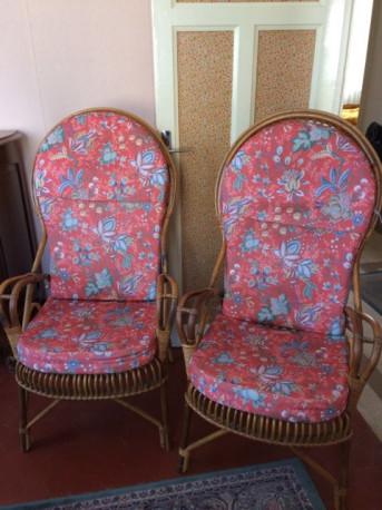 fauteuils en osier vintage les vieilles choses. Black Bedroom Furniture Sets. Home Design Ideas