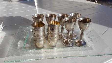 Lot métal argenté métal blanc