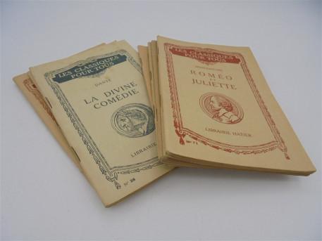 """8 anciens livres """" les classiques pour tous"""""""