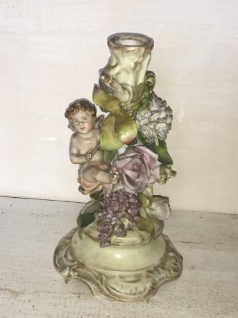 Bougeoir en porcelaine 19eme ancien