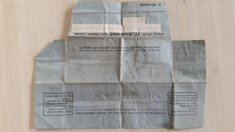 Télégramme 1958