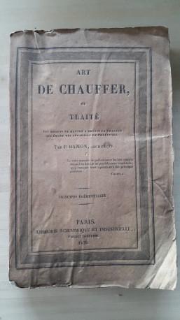 Livre ancien l'Art de Chauffer 1829
