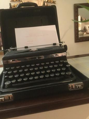 machine à'écrire vintage