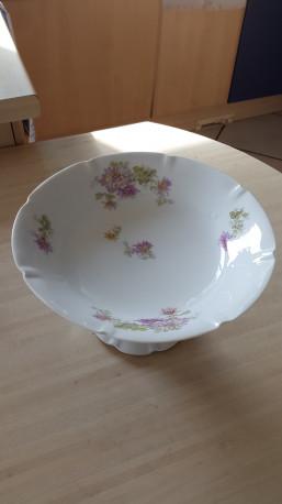 Compotier porcelaine fleurettes