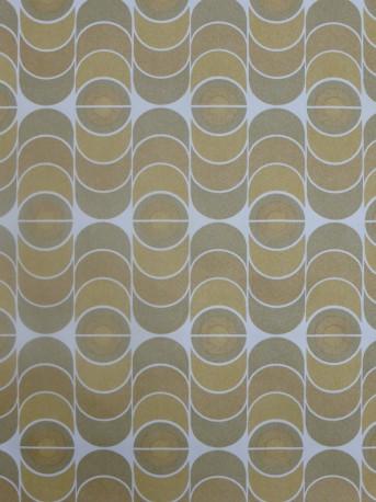 papier peint vintage geométrique