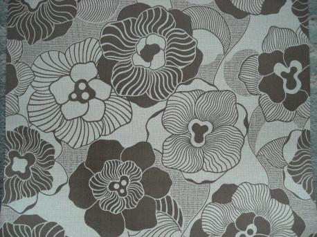 papier peint vintage fleurs marron