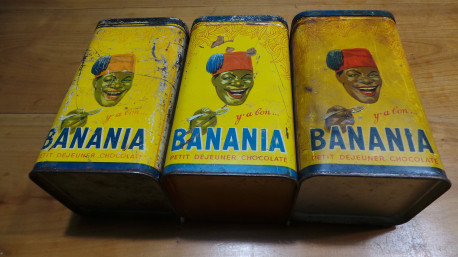 Lot de boîtes Banania vintage