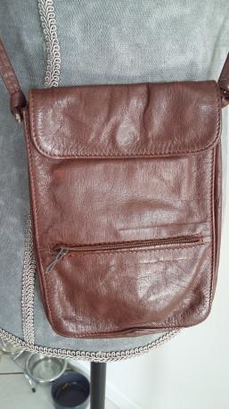Mini sacoche cuir souple