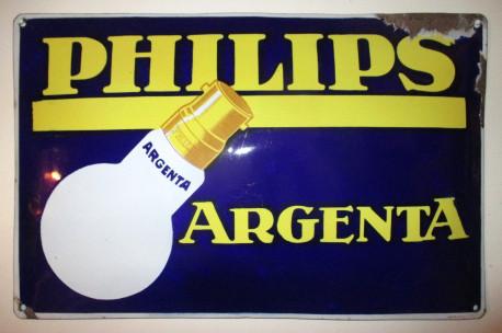 PLAQUE EMAILLEE PHILIPS Argenta Vintage