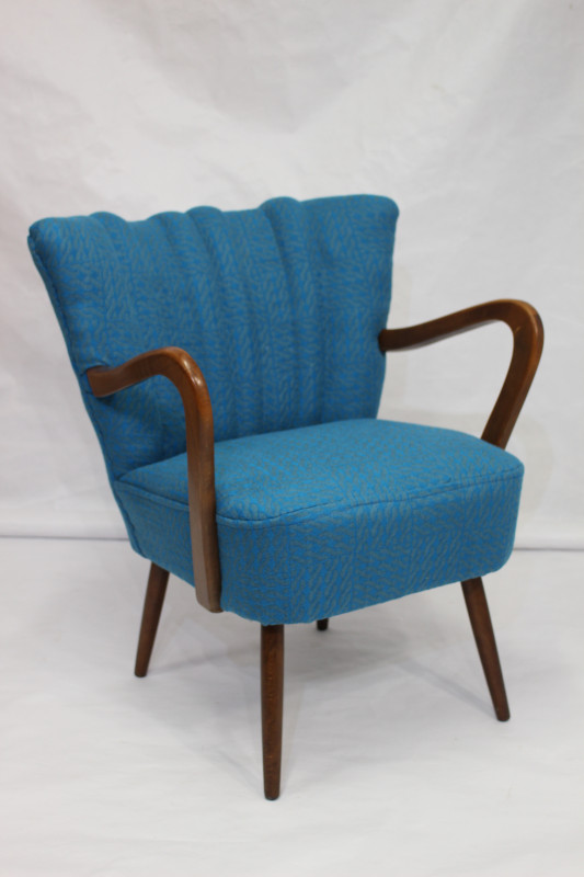 fauteuil vintage ann e 50 tissu sonia rykiel les vieilles choses. Black Bedroom Furniture Sets. Home Design Ideas