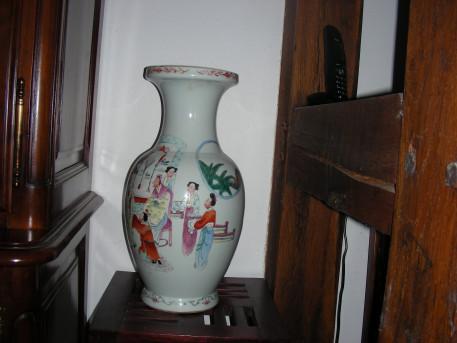 Authentique vase chinois en porcelaine, 19ème siècle