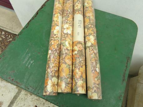 Lot de 4 rouleaux de papier peint vintage
