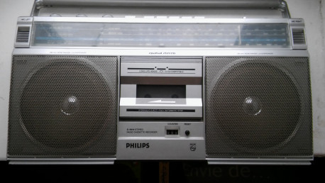 Phillips radio cassette portable D 2412 vintage