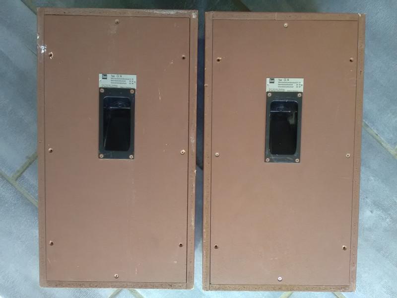 set dual enceintes cl14   amplificateur cv 40   c u00c2bles vintage